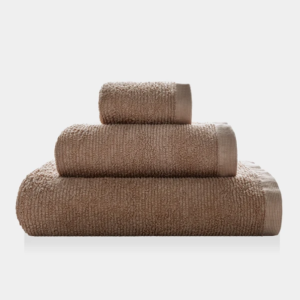 Asciugamano Ribbon - Set viso/ospite spugna - TAUPE