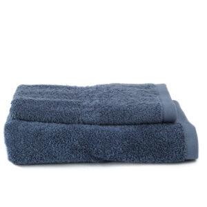Asciugamano Perla - Set viso/ospite spugna BLU DENIM
