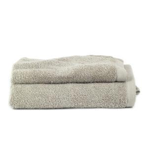 Asciugamano Perla - Set viso/ospite spugna TORTORA