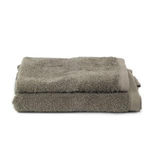 Asciugamano Perla - Set viso/ospite spugna TORTORA SCURO